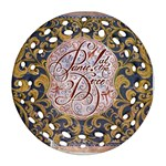 Panic! At The Disco Round Filigree Ornament (2Side) Back
