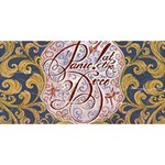 Panic! At The Disco Twin Heart Bottom 3D Greeting Card (8x4) Back