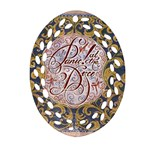 Panic! At The Disco Ornament (Oval Filigree)  Front