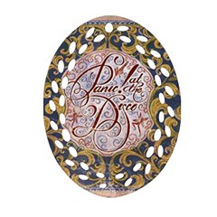 Panic! At The Disco Oval Filigree Ornament (2-Side)