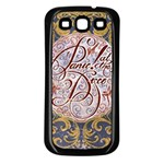 Panic! At The Disco Samsung Galaxy S3 Back Case (Black) Front