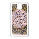 Panic! At The Disco Samsung Galaxy Note 3 N9005 Case (White) Front