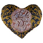 Panic! At The Disco Large 19  Premium Flano Heart Shape Cushions Front