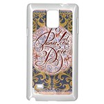 Panic! At The Disco Samsung Galaxy Note 4 Case (White) Front