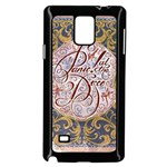 Panic! At The Disco Samsung Galaxy Note 4 Case (Black) Front