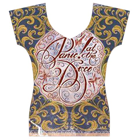 Panic! At The Disco Women s V-Neck Cap Sleeve Top