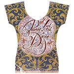 Panic! At The Disco Women s V-Neck Cap Sleeve Top Front