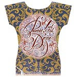 Panic! At The Disco Women s V-Neck Cap Sleeve Top Back