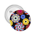 Colorful Retro Circular Pattern 2.25  Buttons Front
