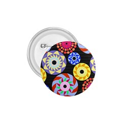Colorful Retro Circular Pattern 1.75  Buttons