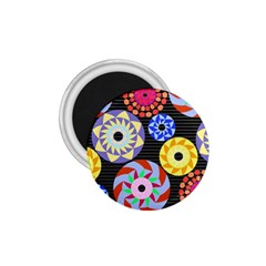 Colorful Retro Circular Pattern 1 75  Magnets