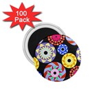 Colorful Retro Circular Pattern 1.75  Magnets (100 pack)  Front
