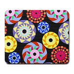 Colorful Retro Circular Pattern Large Mousepads Front