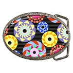 Colorful Retro Circular Pattern Belt Buckles Front