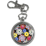 Colorful Retro Circular Pattern Key Chain Watches Front