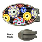 Colorful Retro Circular Pattern Money Clips (Oval)  Front