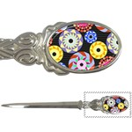 Colorful Retro Circular Pattern Letter Openers Front