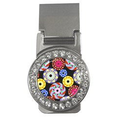 Colorful Retro Circular Pattern Money Clips (CZ)