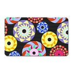 Colorful Retro Circular Pattern Magnet (Rectangular) Front