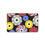 Colorful Retro Circular Pattern Magnet (Name Card) Front