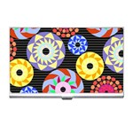 Colorful Retro Circular Pattern Business Card Holders Front