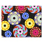 Colorful Retro Circular Pattern Rectangular Jigsaw Puzzl Front