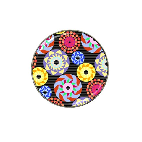 Colorful Retro Circular Pattern Hat Clip Ball Marker (10 pack)