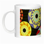 Colorful Retro Circular Pattern Night Luminous Mugs Left