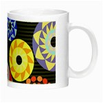 Colorful Retro Circular Pattern Night Luminous Mugs Right