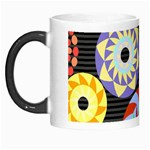 Colorful Retro Circular Pattern Morph Mugs Left