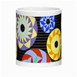 Colorful Retro Circular Pattern Morph Mugs Center
