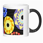 Colorful Retro Circular Pattern Morph Mugs Right