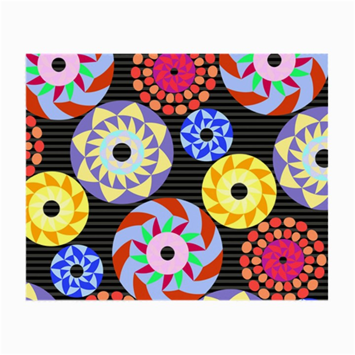 Colorful Retro Circular Pattern Small Glasses Cloth