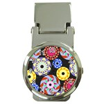 Colorful Retro Circular Pattern Money Clip Watches Front