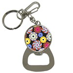 Colorful Retro Circular Pattern Bottle Opener Key Chains Front