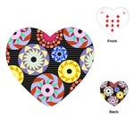 Colorful Retro Circular Pattern Playing Cards (Heart)  Front