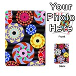 Colorful Retro Circular Pattern Playing Cards 54 Designs  Front - Heart2