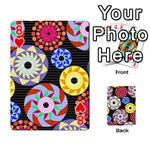 Colorful Retro Circular Pattern Playing Cards 54 Designs  Front - Heart8