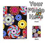 Colorful Retro Circular Pattern Playing Cards 54 Designs  Front - Diamond4