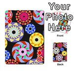 Colorful Retro Circular Pattern Playing Cards 54 Designs  Front - Diamond10