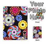 Colorful Retro Circular Pattern Playing Cards 54 Designs  Front - Club2