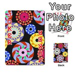 Colorful Retro Circular Pattern Playing Cards 54 Designs  Front - Joker2