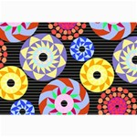 Colorful Retro Circular Pattern Collage Prints 18 x12 Print - 2