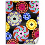 Colorful Retro Circular Pattern Canvas 12  x 16   16 x12 Canvas - 1