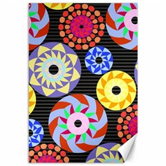 Colorful Retro Circular Pattern Canvas 12  x 18
