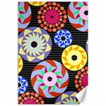 Colorful Retro Circular Pattern Canvas 12  x 18   18 x12 Canvas - 1