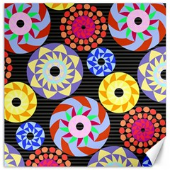 Colorful Retro Circular Pattern Canvas 16  x 16