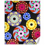 Colorful Retro Circular Pattern Canvas 16  x 20   20 x16 Canvas - 1
