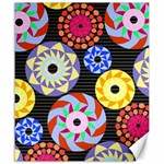 Colorful Retro Circular Pattern Canvas 20  x 24   24 x20 Canvas - 1