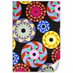 Colorful Retro Circular Pattern Canvas 24  x 36  36 x24 Canvas - 1